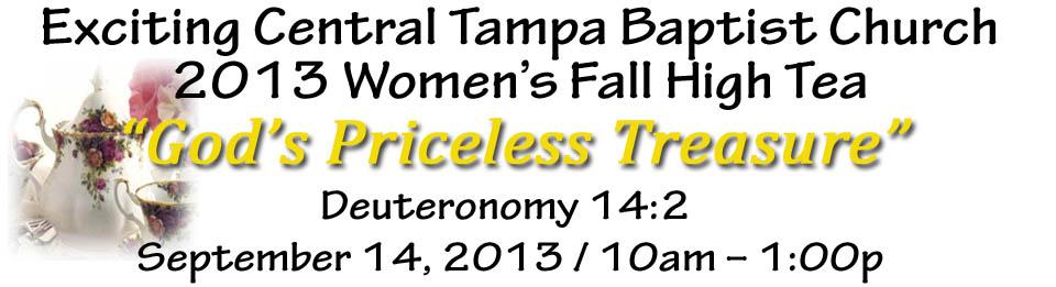 2013 Women's Fall High Tea (God's Priceless TREASURE) @ The Chester Ferguson Center  | Tampa | Florida | United States